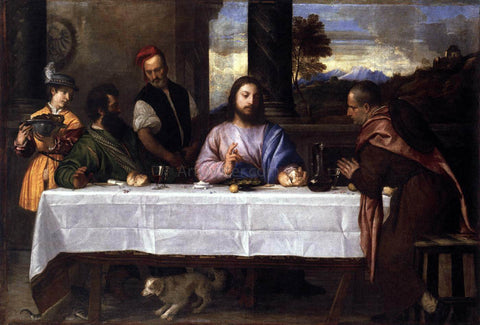 Titian Supper at Emmaus - Hand Painted Oil Painting