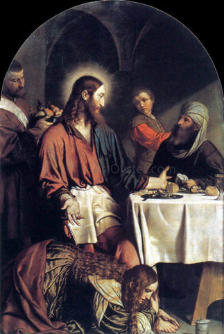 Moretto Da Brescia Supper in the House of Simon Pharisee - Hand Painted Oil Painting
