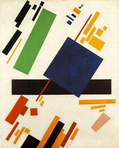 Kazimir Malevich Suprematic Painting - Hand Painted Oil Painting