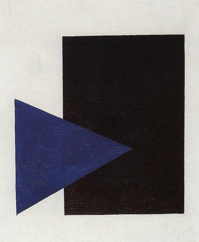 Kazimir Malevich Suprematism with Blue Triangle and Black Square - Hand Painted Oil Painting