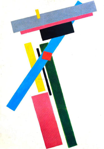 Kazimir Malevich Suprematistic Construction - Hand Painted Oil Painting