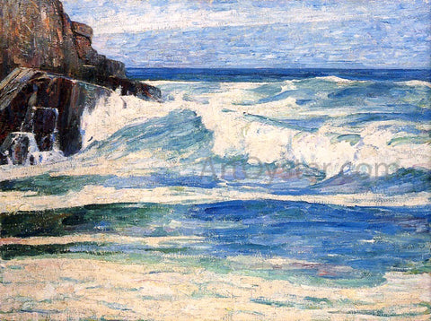 Emil Carlsen Surf Breaking on Rocks - Hand Painted Oil Painting
