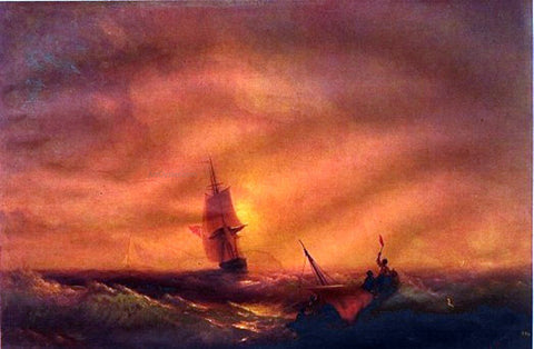 Ivan Constantinovich Aivazovsky Survivors - Hand Painted Oil Painting