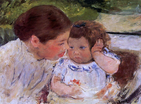 Mary Cassatt Susan Comforting the Baby (no.1) - Hand Painted Oil Painting