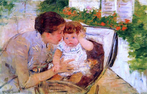 Mary Cassatt Susan Comforting the Baby (no.2) - Hand Painted Oil Painting