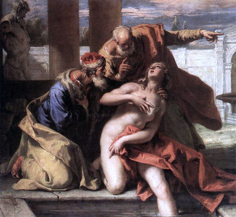 Sebastiano Ricci Susanna and the Elders - Hand Painted Oil Painting