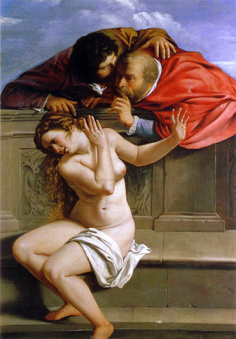 Artemisia Gentileschi Susanna and the Elders - Hand Painted Oil Painting