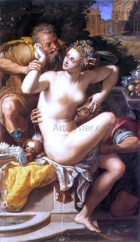 Alessandro Allori Susanna and the Elders - Hand Painted Oil Painting