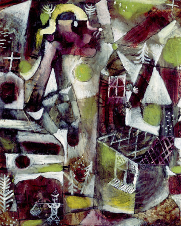 Paul Klee Swamp Legend - Hand Painted Oil Painting