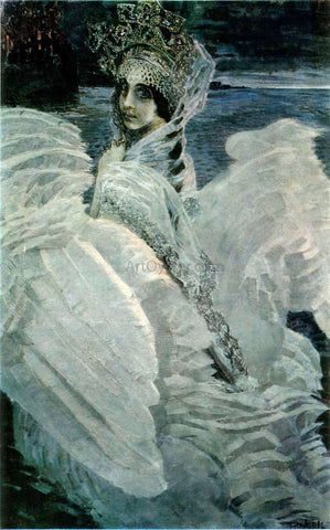 Michael Vrubel Swan-Princess - Hand Painted Oil Painting