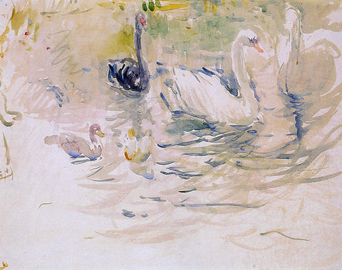 Berthe Morisot Swans - Hand Painted Oil Painting
