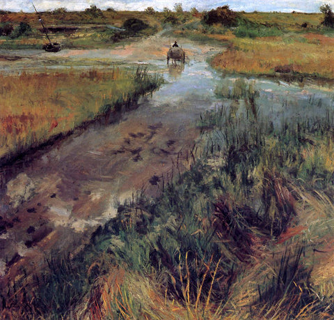 William Merritt Chase Swollen Stream at Shinnecock - Hand Painted Oil Painting