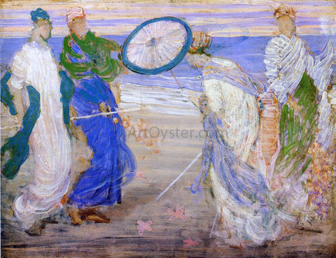 James McNeill Whistler Symphony in Blue and Pink - Hand Painted Oil Painting