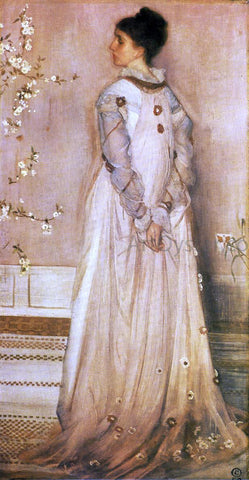 James McNeill Whistler Symphony in Flesh Colour and Pink: Portrait of Mrs. Frances Leyland - Hand Painted Oil Painting