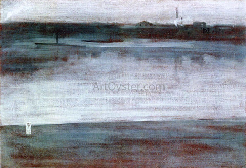 James McNeill Whistler Symphony in Grey: Early Morning, Thames - Hand Painted Oil Painting