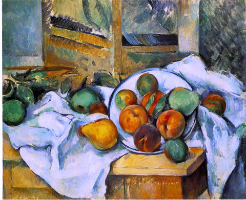 Paul Cezanne Table, Napkin and Fruit - Hand Painted Oil Painting