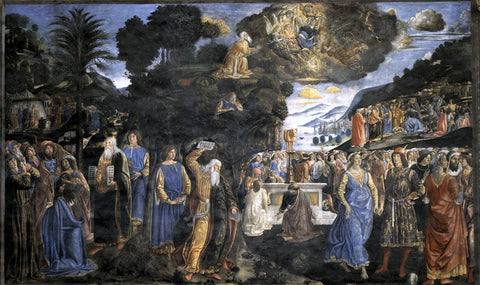 Cosimo Rosselli Tables of the Law with the Golden Calf - Hand Painted Oil Painting