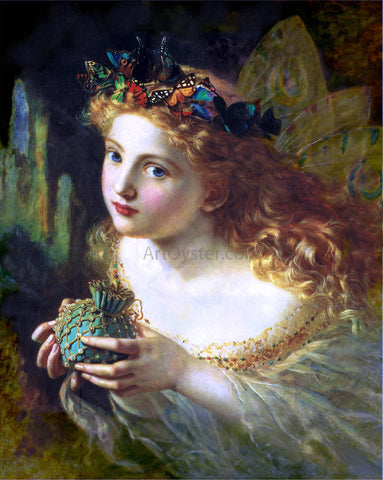 Sophie Anderson Take the Fair Face of Woman (also known as Fairy Queen) - Hand Painted Oil Painting