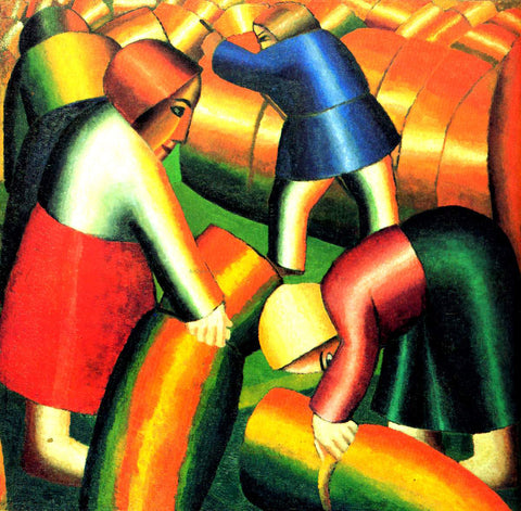 Kazimir Malevich Taking in the Harvest - Hand Painted Oil Painting