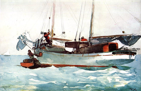 Winslow Homer Taking on Provisions - Hand Painted Oil Painting