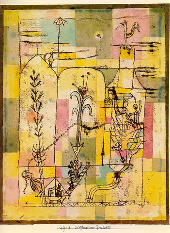 Paul Klee Tale of Hoffmann - Hand Painted Oil Painting