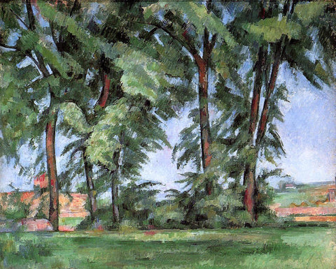 Paul Cezanne Tall Trees at the Jas de Bouffan - Hand Painted Oil Painting