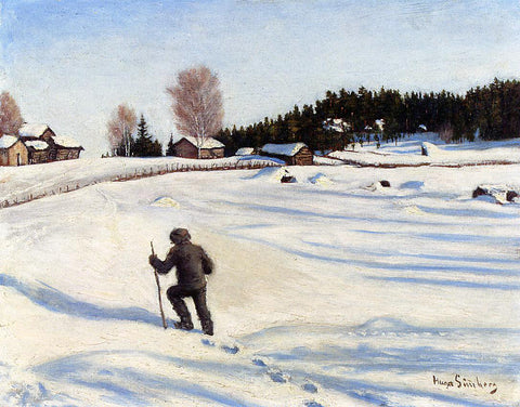 Hugo Simberg Talvimaisema (also known as Winter Landscape) - Hand Painted Oil Painting