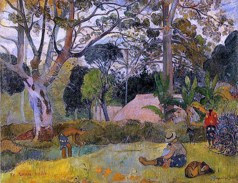 Paul Gauguin Te Raau Rahi (also known as The Big Tree) - Hand Painted Oil Painting