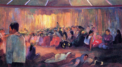 Paul Gauguin Te Rare Hymenee (also known as The House of Hymns) - Hand Painted Oil Painting
