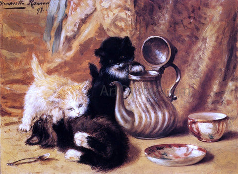 Henriette Ronner-Knip Teatime - Hand Painted Oil Painting