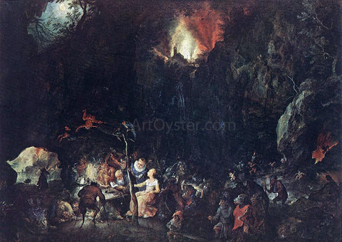 The Elder Jan Brueghel Temptation of St Anthony - Hand Painted Oil Painting