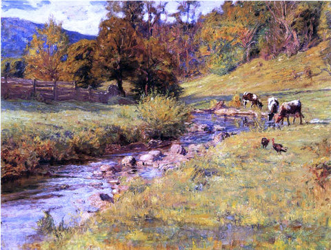 Theodore Clement Steele Tennessee Scene - Hand Painted Oil Painting