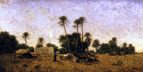 Eugene Fromentin Tents of the Smalah of Si-Hamed-Bel-Hadj, Sahara - Hand Painted Oil Painting