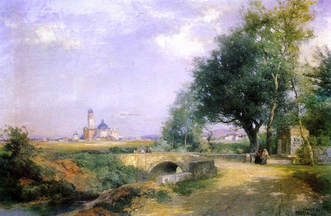 Thomas Moran Teoloyucan, Mexico - Hand Painted Oil Painting