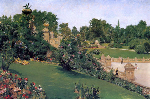 William Merritt Chase A Terrace at the Mall, Cantral Park - Hand Painted Oil Painting