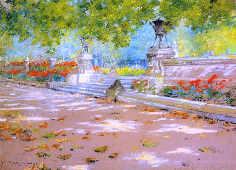William Merritt Chase Terrace, Prospect Park - Hand Painted Oil Painting