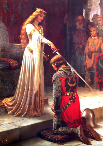 Edmund Blair Leighton Accolade - Hand Painted Oil Painting