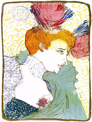 Henri De Toulouse-Lautrec The Actress Marcelle Lender - Hand Painted Oil Painting