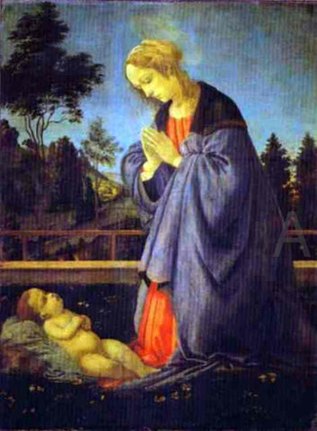 Filippino Lippi The Adoration of the Child - Hand Painted Oil Painting
