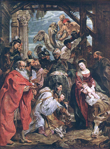 Peter Paul Rubens The Adoration of the Magi - Hand Painted Oil Painting