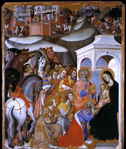 Bartolo Di Fredi The Adoration of the Magi - Hand Painted Oil Painting