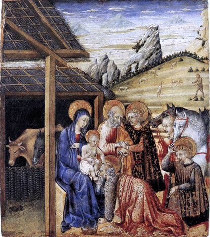 Giovanni Di Paolo The Adoration of the Magi - Hand Painted Oil Painting