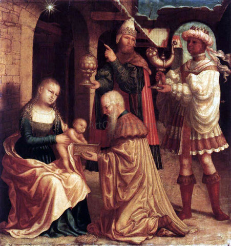 Master ab Monogram The Adoration of the Magi - Hand Painted Oil Painting