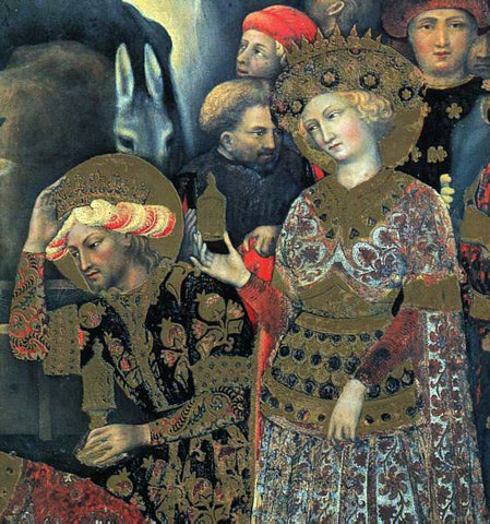Gentile Da Fabriano The Adoration of the Magi (detail) - Hand Painted Oil Painting