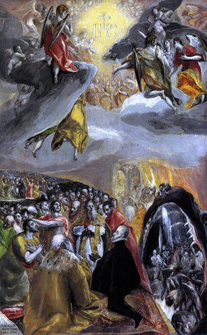 El Greco The Adoration of the Name of Jesus - Hand Painted Oil Painting
