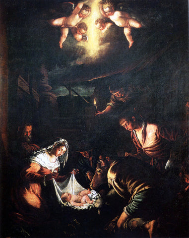 Jacopo Bassano The Adoration of the Shepherds - Hand Painted Oil Painting