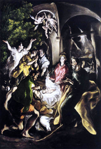 El Greco The Adoration of the Shepherds - Hand Painted Oil Painting