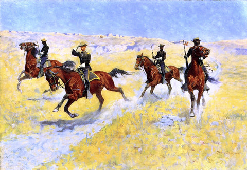 Frederic Remington The Advance - Hand Painted Oil Painting