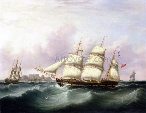 Samuel Walters The 'Alert' of Liverpool off Capetown - Hand Painted Oil Painting