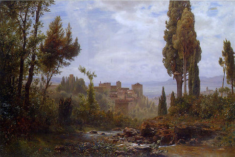 Ernst Karl Eugen Koerner The Alhambra - Hand Painted Oil Painting